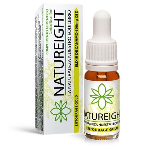 Elixir de Cañamo 600 mg CBD Entourage Gold Natureight 10 ml  ()